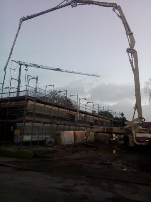 Foto zur Meldung: Der Neubau wächst ...
