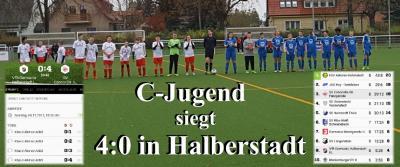 Foto zu Meldung: C-Jugend siegt in Halberstadt und setzt sich an der Tabellenspitze fest