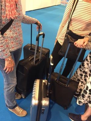 Vorschaubild zur Meldung: L'aventure des trois valises noires (plus une argentée) à Francfort