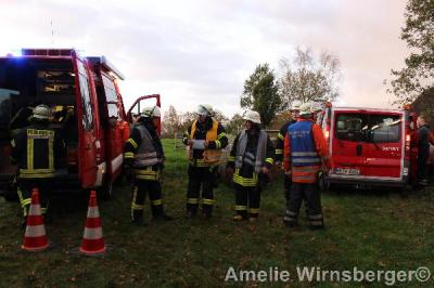 Foto zur Meldung: Bispinger Feuerwehren proben den Ernstfall