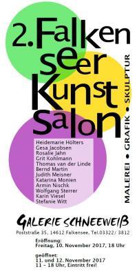 Künstlerkreis lädt zur Vernissage des 2. Falkenseer Kunstsalons am 10. November 2017 ein.