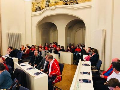 Foto zur Meldung: PSU Hockey bei der Abschlussveranstaltung zum Potsdamer Bürgerhaushalt