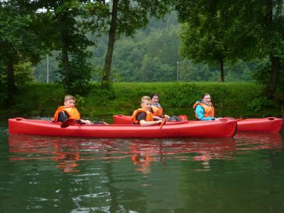 Foto zur Meldung: Ferienprogramm - Kanufahrt in der Fränkischen Schweiz