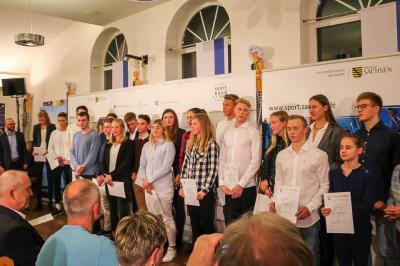 """Foto zur Meldung: """"Nudelparty"""" für Sachsens erfolgreiche Sommersportler"""