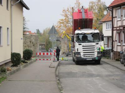Vorschaubild zur Meldung: Erneuerung der Bachstraße/Wiesenstraße im Bereich der Stadtmauer