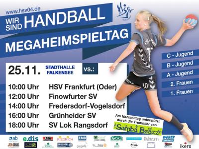 HSV 04 Falkensee lädt zum Mega-Heimspieltag der Handball-Jugend und Handball-Frauen in die Stadthalle ein