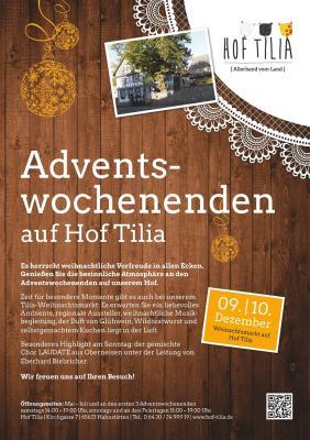 Vorschaubild zur Meldung: Weihnachtsmarkt auf Hof Tilia in Hahnstätten