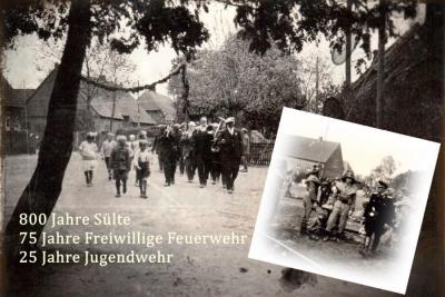 Foto zur Meldung: 800 Jahre Sülte, 75 Jahre freiwillige Feuerwehr, 25 Jahre Jugendwehr