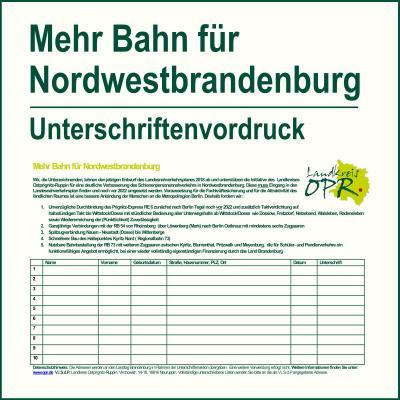 Unterschriftenvordruck