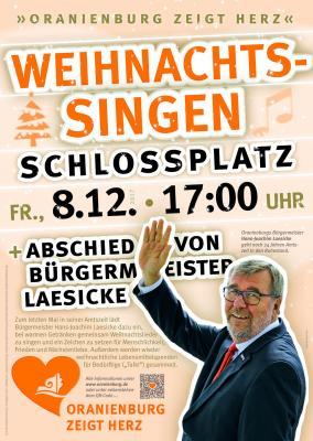 Vorschaubild zur Meldung: Oranienburg zeigt Herz: Weihnachtssingen und Abschied vom Bürgermeister