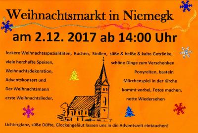 Foto zur Meldung: Weihnachtsmarkt in Niemegk am 02.12.2017