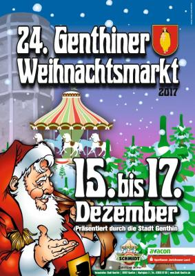 Vorschaubild zur Meldung: 24. Genthiner Weihnachtsmarkt vom 15. bis 17.12.2017