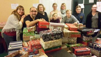 Foto zu Meldung: 314 Weihnachtspäckchen machen sich auf die Reise nach Osteuropa
