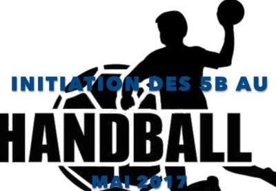 Initiation au Handball - Classe 5 b - Mai 2017