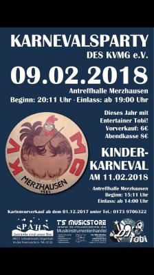 Vorschaubild zur Meldung: Kartenvorverkauf / Karnevalsparty / Kinderkarneval / KVMG / 09.02.2018 u. 11.02.2018
