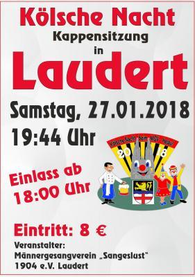 """Vorschaubild zur Meldung: """"Kölsche Nacht"""" bei der Kappensitzung am 27. Januar 2018"""