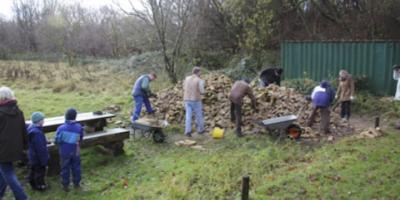Foto zur Meldung: Der Ziegeleiverein hat alte Ziegel des Bauernhofs Rathje aus Borgwedel gesäubert