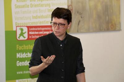 Vorschaubild zur Meldung: Fachimpulse und Gesprächsrunden mit María do Mar Castro Varela