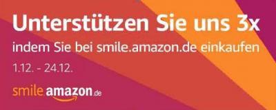 Foto zur Meldung: AmazonSmile feiert 1. Geburtstag und wir bekommen die Geschenke