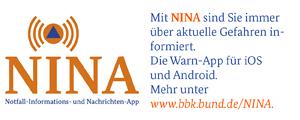"""Vorschaubild zur Meldung: Gefahrenlagen-Warn-App """"NINA"""""""