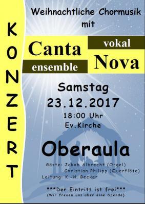 Foto zu Meldung: Weihnachtliches Chorkonzert in Oberaula