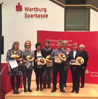 Sportfreund Olaf Märten (vierter von rechts) während der Auszeichnung