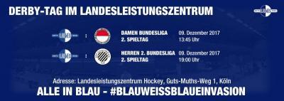 Vorschaubild zur Meldung: Hockey - Derbytag am Samstag, 9.12.
