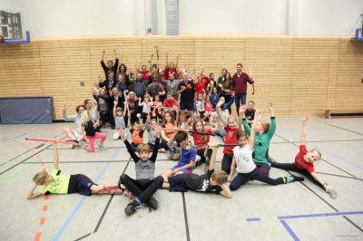 Foto zur Meldung: Eltern-Kind-Turnier der Hockey-AG der Schule am Griebnitzsee