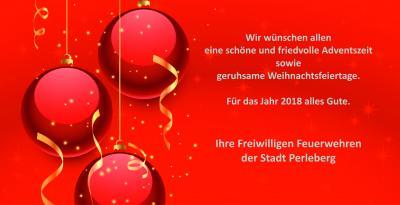 Vorschaubild zur Meldung: Weihnachtsgrüße der Freiwilligen Feuerwehren der Stadt Perleberg