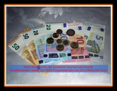 Foto zu Meldung: Gesetzliche Krankenversicherung hat Finanzreserven von 18,6 Milliarden Euro