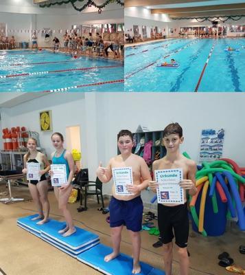 Foto zur Meldung: Nikolausschwimmen der 6. Klassen
