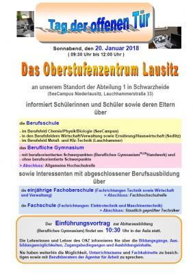 Foto zur Meldung: Tag der offenen Tür am Oberstufenzentrum Lausitz