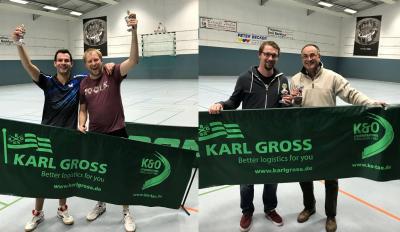 Vorschaubild zur Meldung: Felix/Julian sowie Andreas/Ingo neue Doppel-Vereinsmeister im Tischtennis