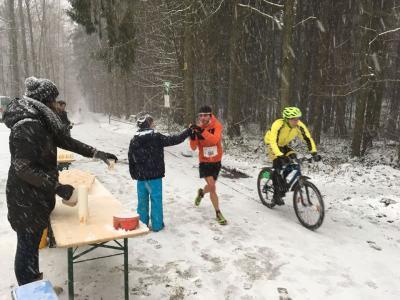 Foto zur Meldung: Schneesturm kann Moritz auf der Heide nicht aufhalten