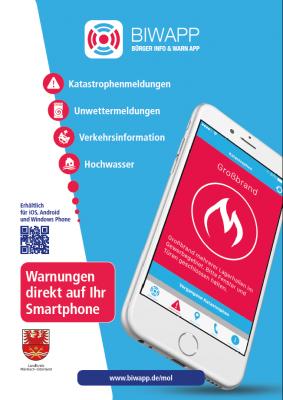 Vorschaubild zur Meldung: Landkreis Märkisch-Oderland führt Warn-App ein