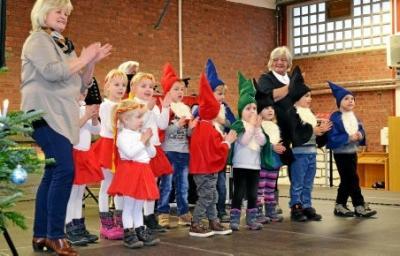 Kleine Wichtel ganz groß: Kutzlebener Kinder boten ein schönes Programm