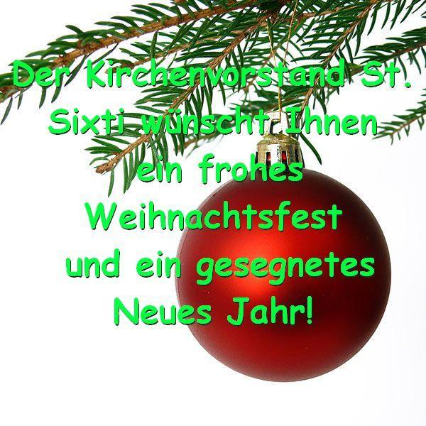 Ev.-Luth. St. Sixti Kirchengemeinde Northeim - Frohe Weihnachten