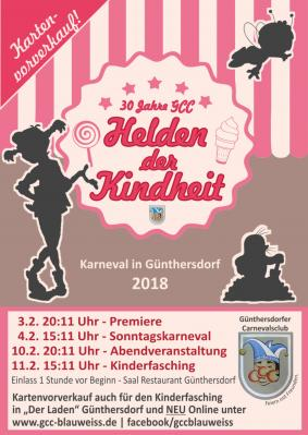 """Foto zur Meldung: 30 Jahre Karneval in Günthersdorf mit den """"Helden der Kindheit"""""""