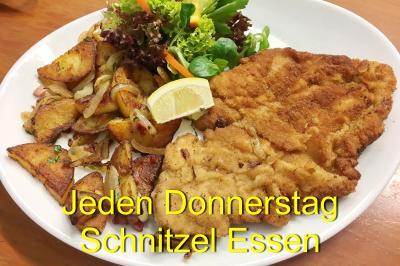 Foto zur Meldung: Jeden Donnerstag Schnitzel-Essen für nur 10,90 €