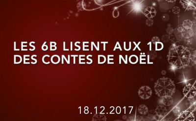 Classes 1d et 6b - Lectures de contes de Noël