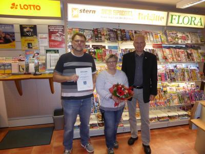 Foto Bürgermeister Weiher, Steffi und Heiko Jahn