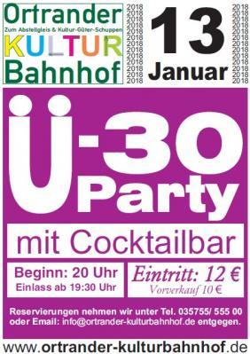 Foto zur Meldung: Ü30-Party im Kulturbahnhof Ortrand