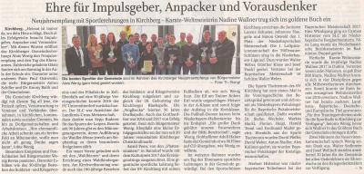 Auszug Der Bayerwald Bote 09.01.2018