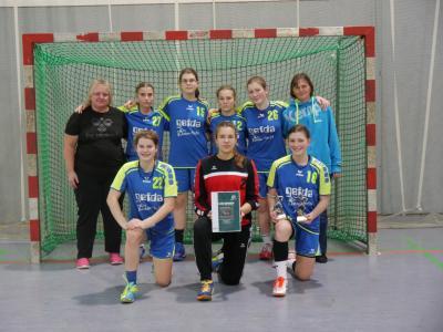 Vorschaubild zur Meldung: 1.       HSV Super-Cup der C-Mädchen in Minden JSG Buchberg wird mit Kleinstem Kader 2. des Turniers