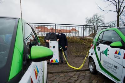 Auftanken in 60 Minuten: In der Innenstadt gibt es jetzt zwei Ladepunkte für Elektrofahrzeuge