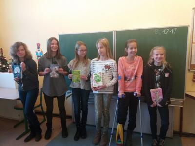 Vorschaubild zur Meldung: Vorlesewettbewerb in der Berg- Grundschule