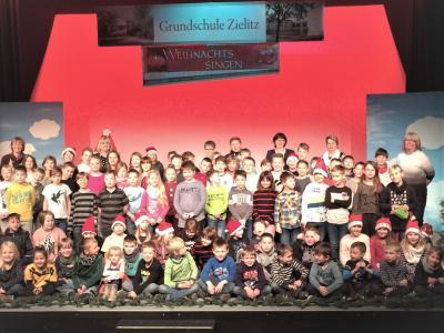 Vorschaubild zur Meldung: Buntes Weihnachtsprogramm der Zielitzer Grundschule