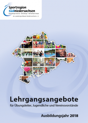 Foto zur Meldung: Lehrgangsbroschüre der Sportregion Südniedersachsen 2018