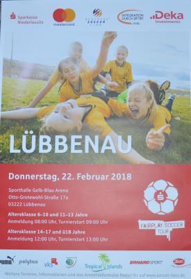 Foto zur Meldung: Sparkassen Fairplay Soccer Tour 2018 in Lübbenau