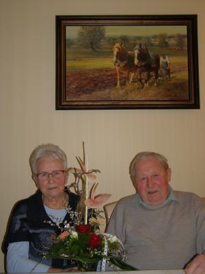 Foto zu Meldung: Inge und Werner Moschkau feierten Diamantene Hochzeit und erinnerten sich